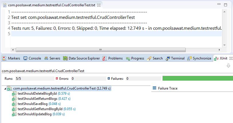 SpringBoot2 สร้าง CRUD RESTful API พร้อม UnitTest แบบรวดเร็ว